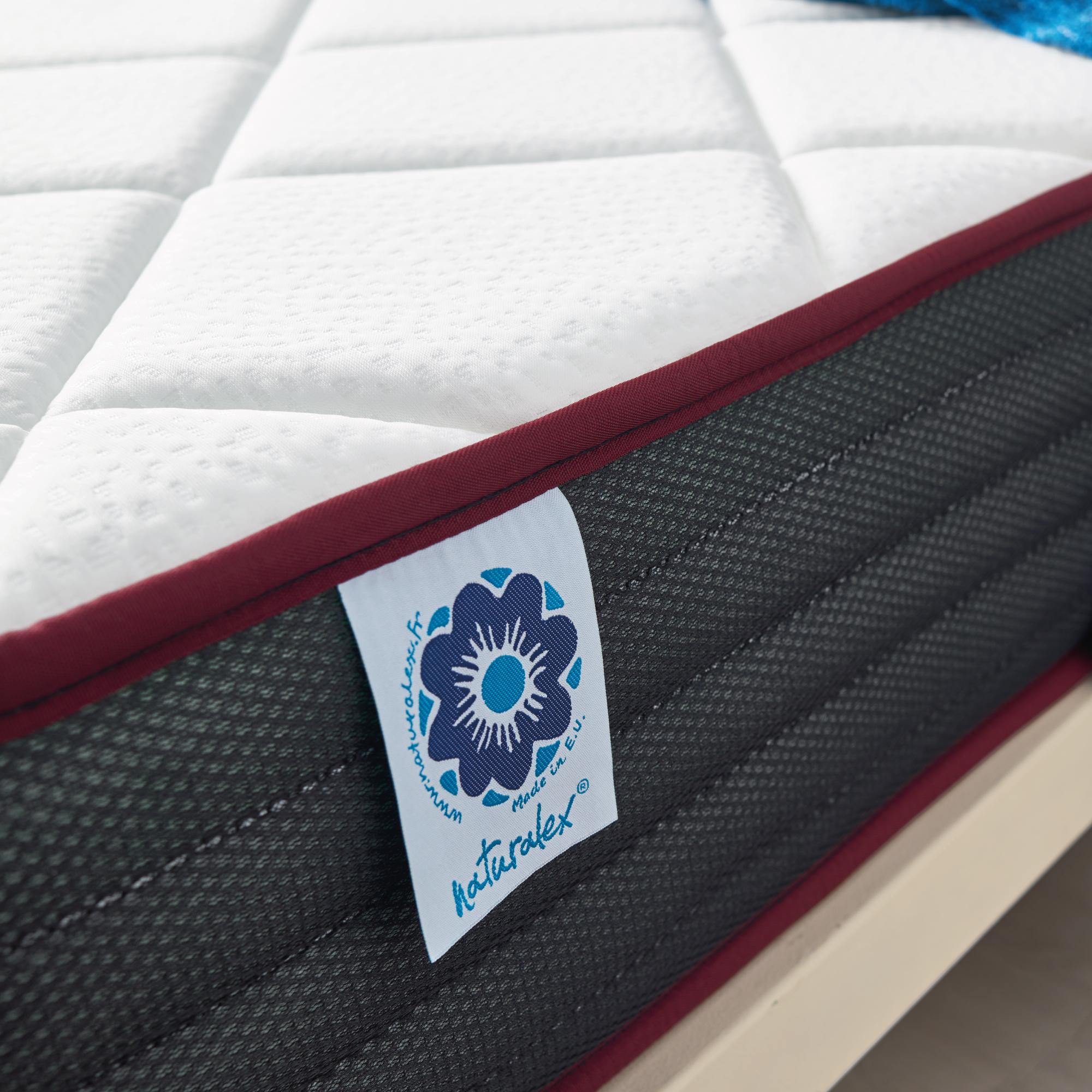 Mousse /à M/émoire Visco/élastique Thermor/égulatrice et Adaptative Technologie Blue Latex HR R/éversible /Ét/é Dualvisco Matelas 70x190 Cm Ergonomique 7 Zones de Confort NATURALEX Fleximax